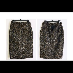Worthington Embroidered Lace Design Pencil Skirt 6
